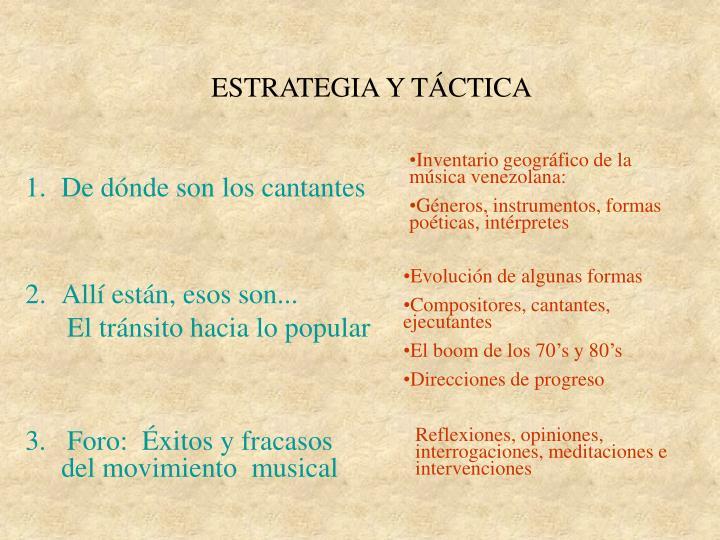 ESTRATEGIA Y TÁCTICA