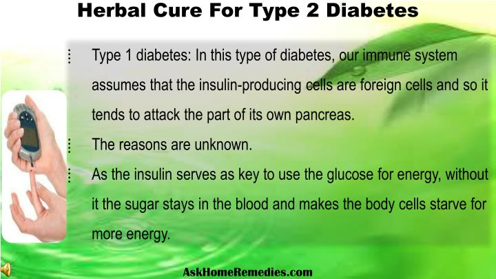 Herbal Cure For Type 2 Diabetes