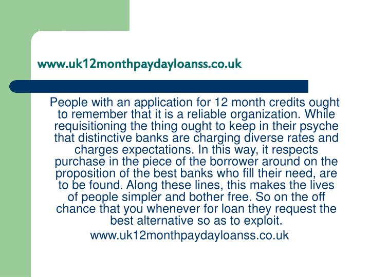 Www uk12monthpaydayloanss co uk