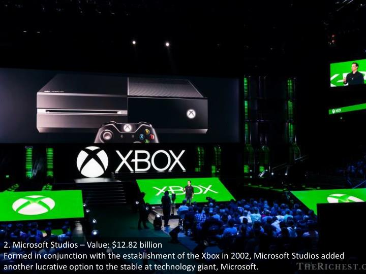 2. Microsoft Studios – Value: $12.82 billion