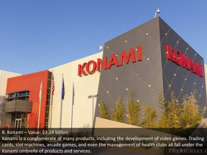 8. Konami – Value: $3.24 billion