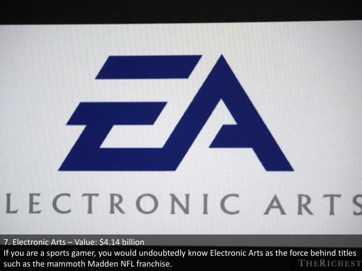 7. Electronic Arts – Value: $4.14 billion