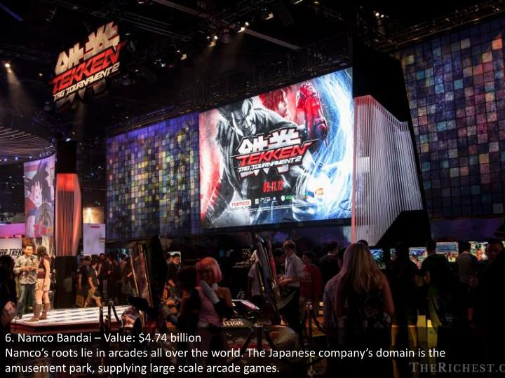 6. Namco Bandai – Value: $4.74 billion