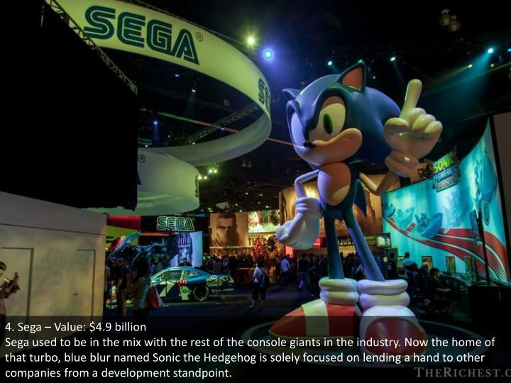 4. Sega – Value: $4.9 billion