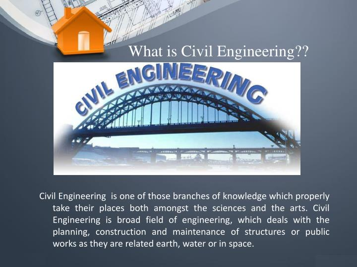 What is Civil Engineering??