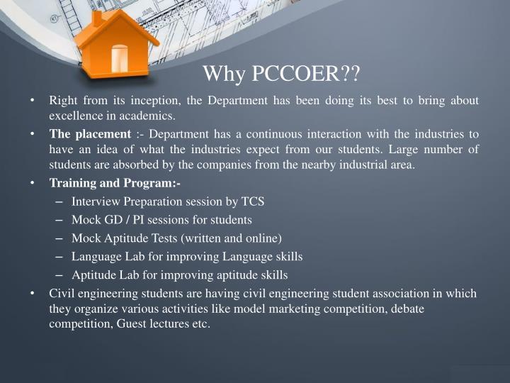 Why PCCOER??
