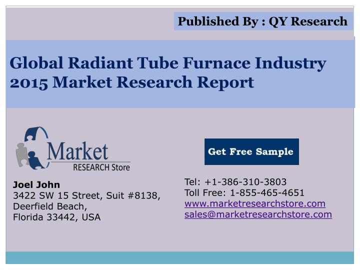 Global radiant tube furnace industry 2015 market research report