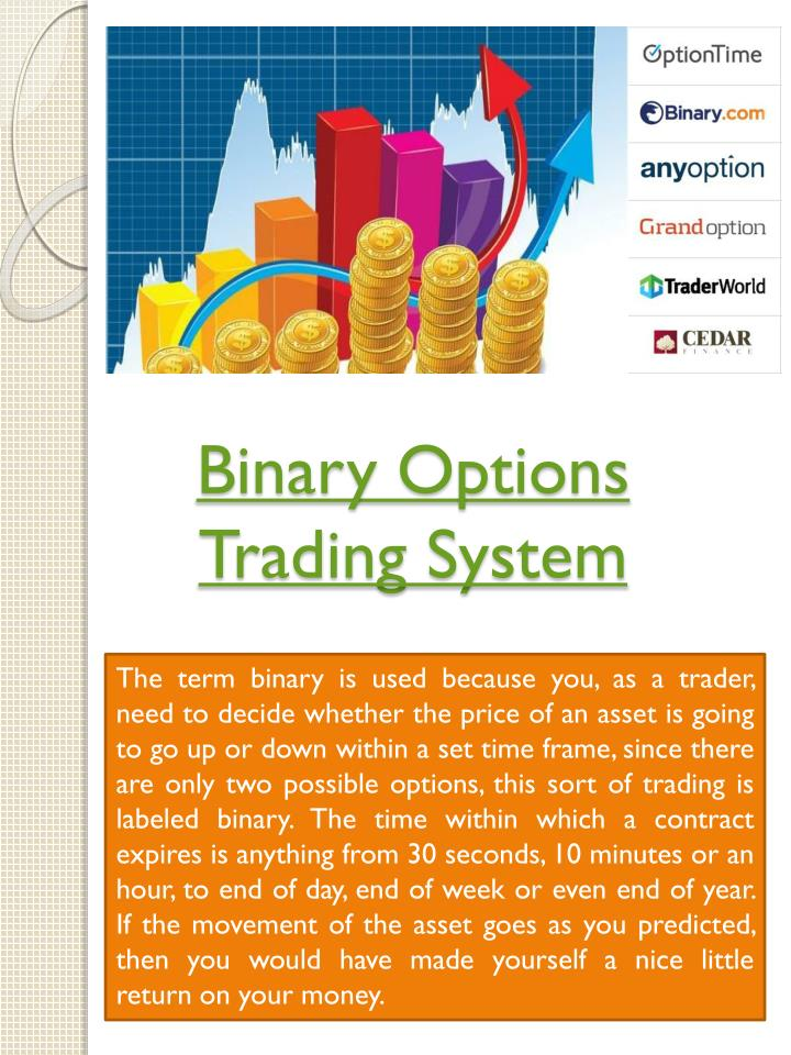 Binary code stock trading system
