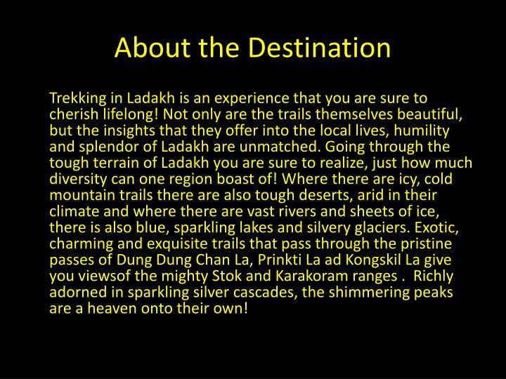 About the Destination