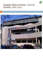 nearest metro station kalkaji mandir 5 min drive