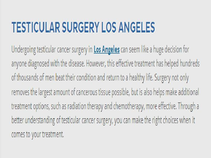 Kidney surgery los angeles