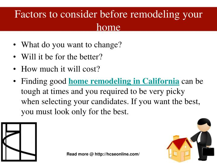 Factors to consider before remodeling your home