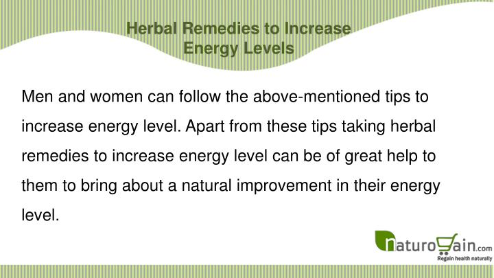 Herbal Remedies to Increase Energy Levels