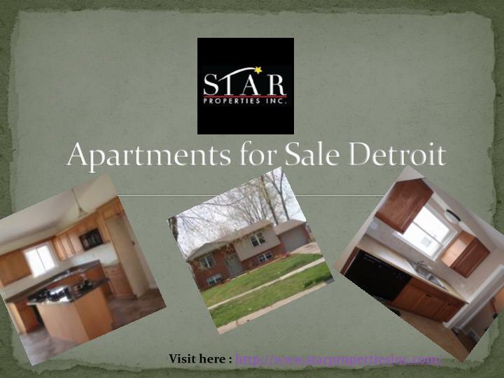 Apartments for Sale Detroit