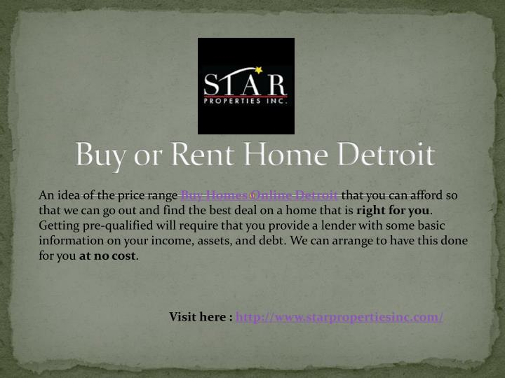 Buy or Rent Home Detroit