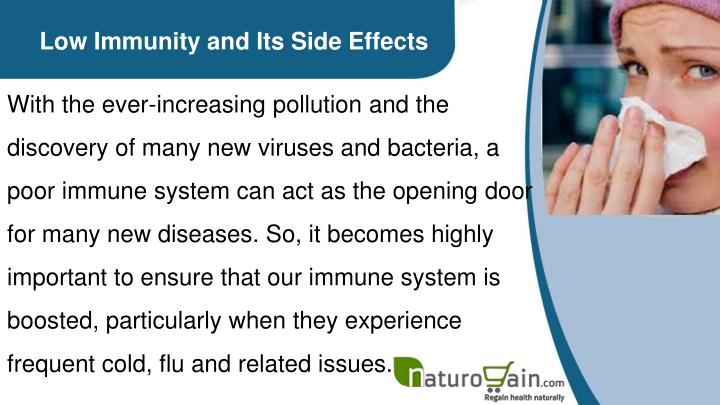 Low Immunity and Its Side Effects