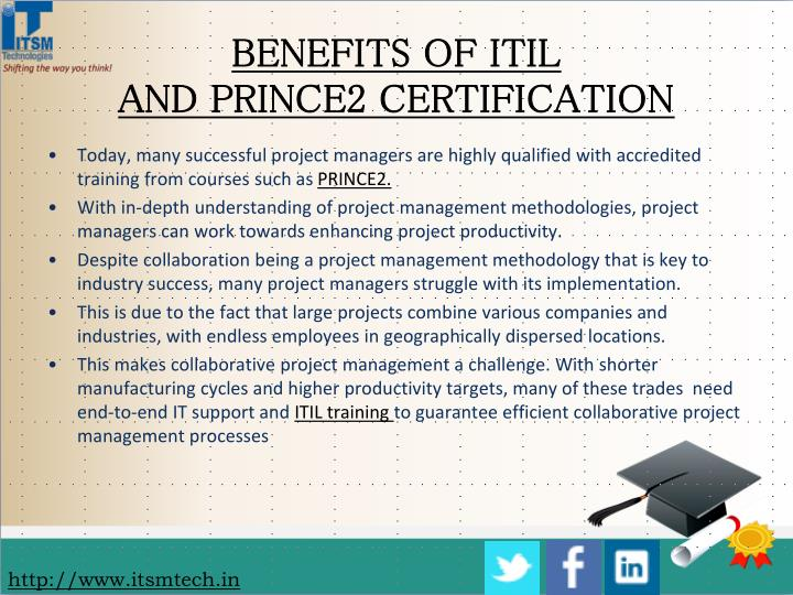 BENEFITS OF ITIL