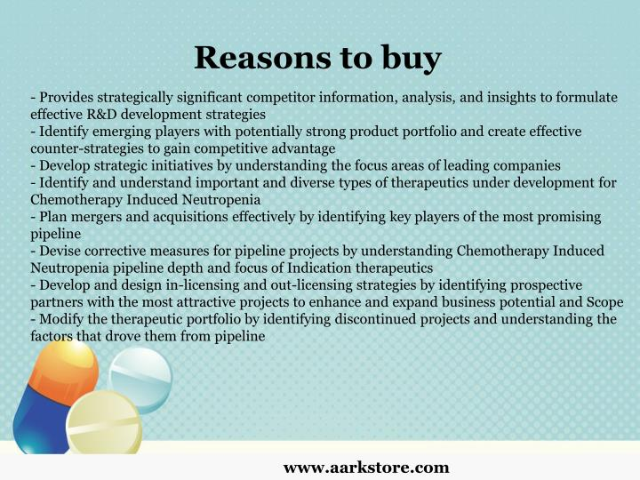 Reasons to buy
