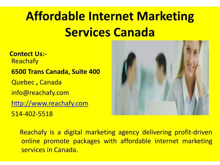 Affordable internet marketing services canada