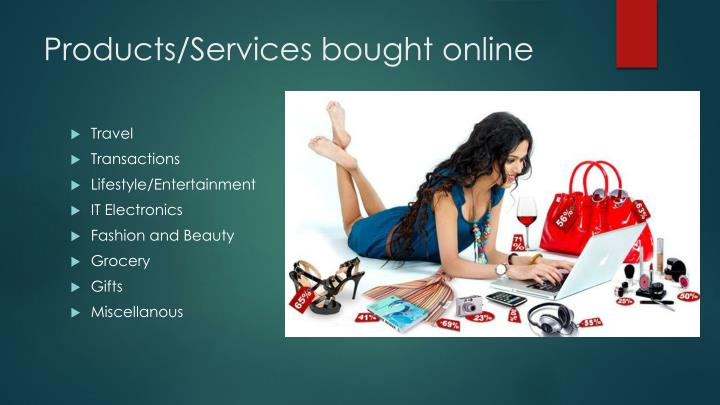 Products services bought online