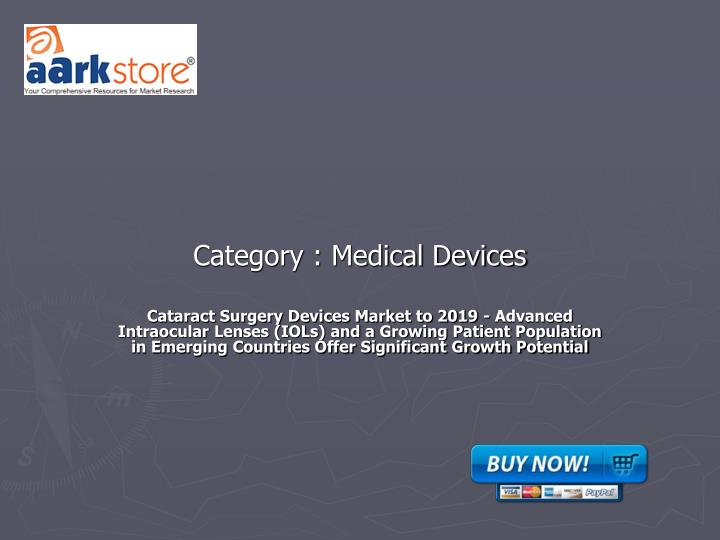 category medical devices