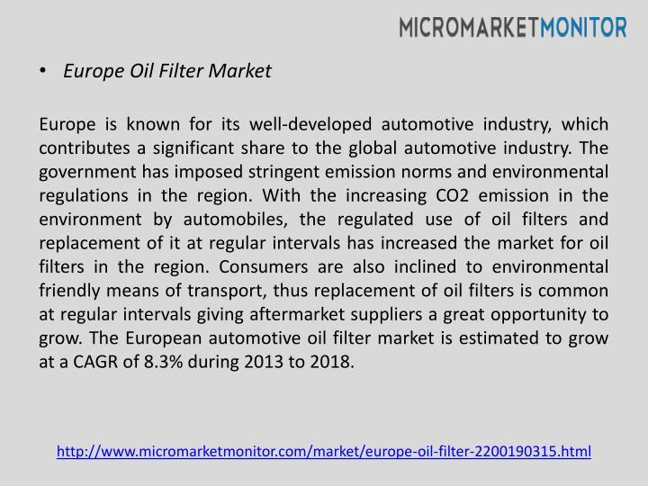 Europe Oil Filter Market