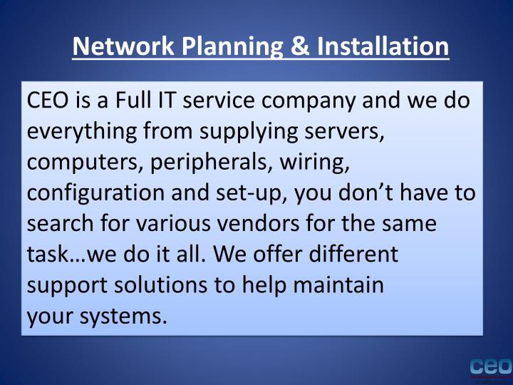 Network Planning & Installation