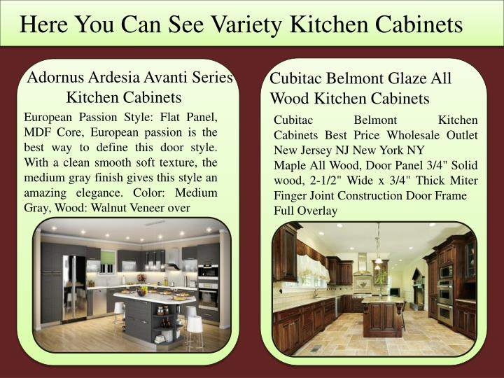 Here you can see variety kitchen cabinets