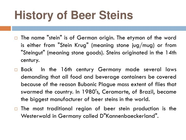History of beer s teins