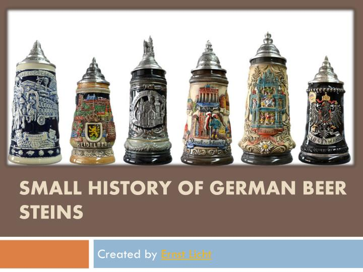 Small history of german beer steins