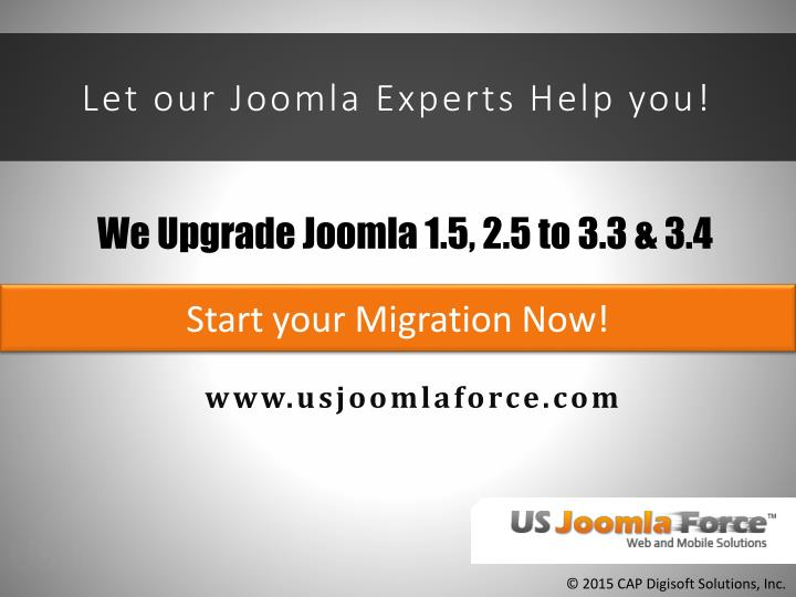 Let our Joomla Experts Help you!