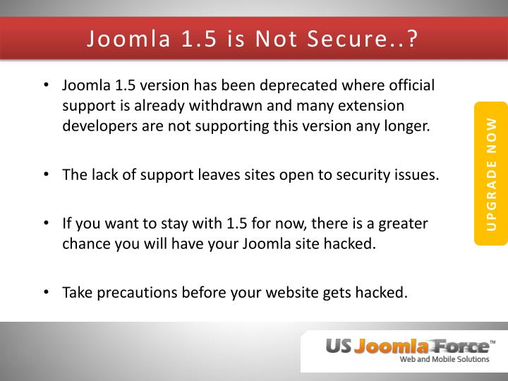 Joomla 1.5 is Not Secure..?