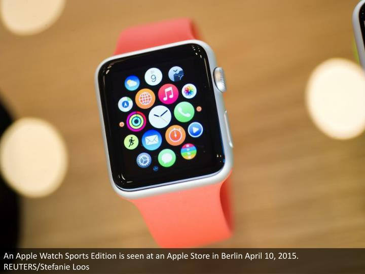 An Apple Watch Sports Edition is seen at an Apple Store in Berlin April 10, 2015. REUTERS/Stefanie Loos