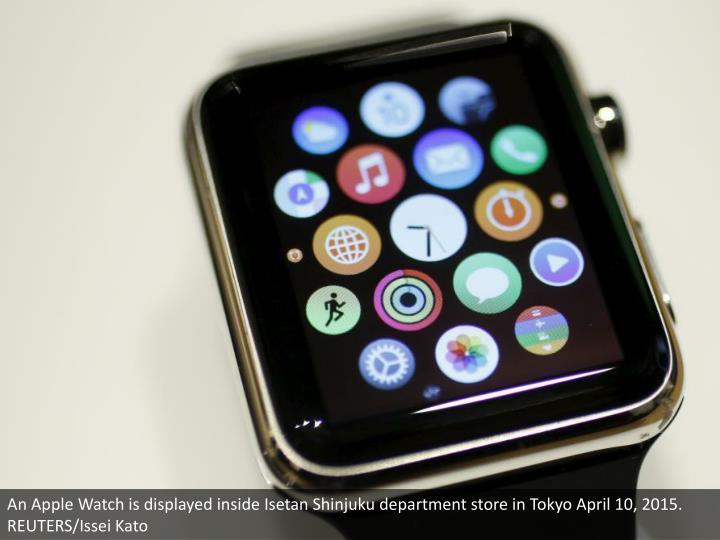 An Apple Watch is displayed inside Isetan Shinjuku department store in Tokyo April 10, 2015. REUTERS/Issei Kato