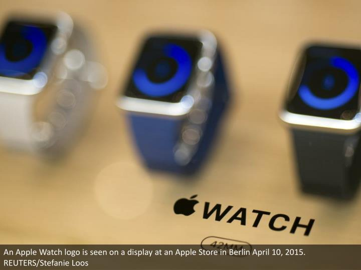 An Apple Watch logo is seen on a display at an Apple Store in Berlin April 10, 2015. REUTERS/Stefanie Loos