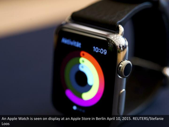 An Apple Watch is seen on display at an Apple Store in Berlin April 10, 2015. REUTERS/Stefanie Loos