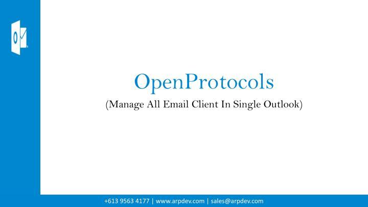 OpenProtocols