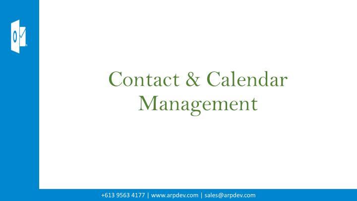 Contact & Calendar Management