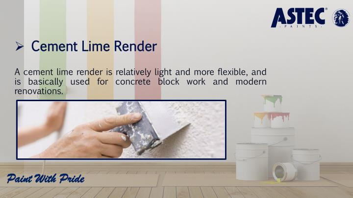 Cement Lime Render