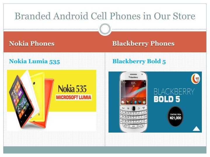 Branded Android Cell Phones in Our Store
