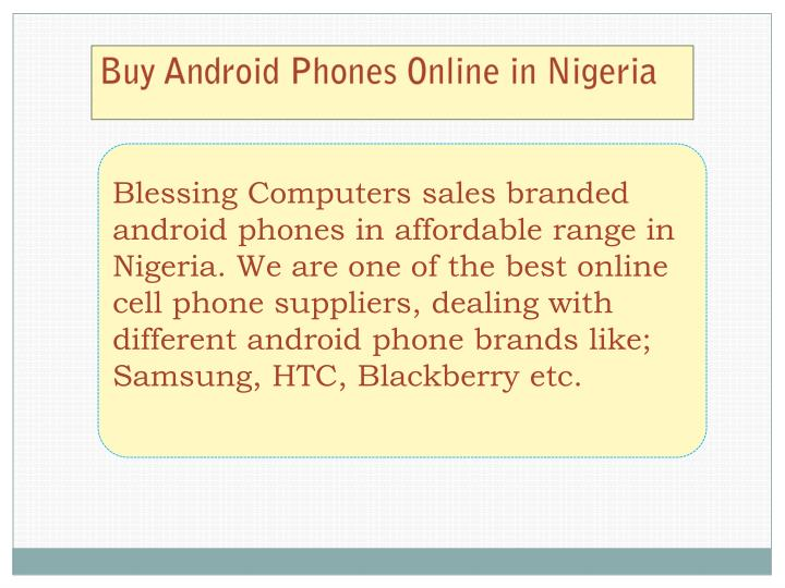 Buy Android Phones Online in Nigeria