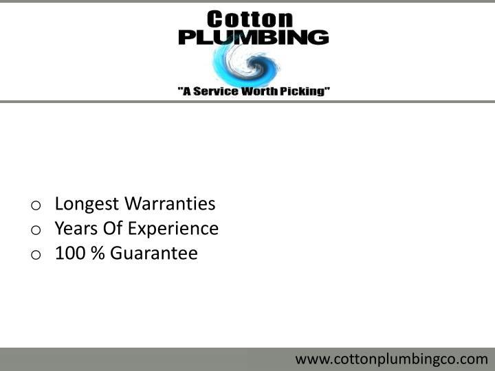 Longest Warranties