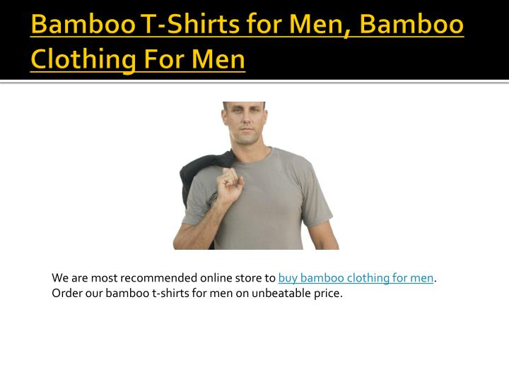 Bamboo t shirts for men bamboo clothing for men