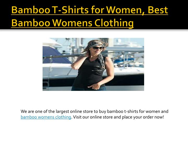 Bamboo T-Shirts for Women, Best Bamboo