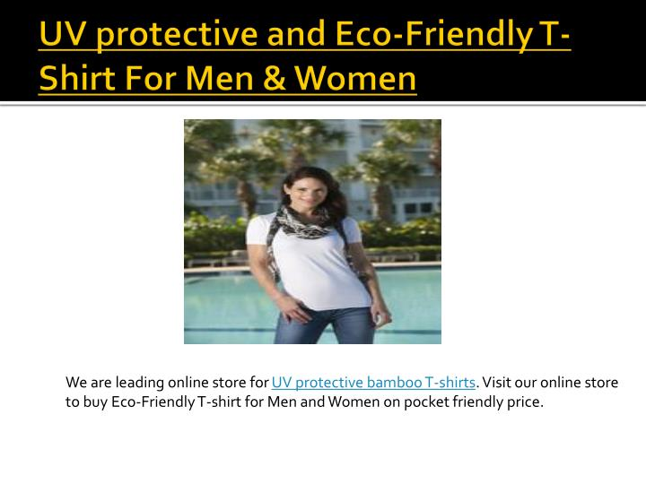 UV protective and Eco-Friendly T-Shirt For Men & Women