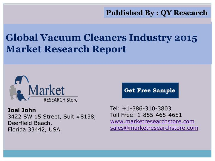 Global vacuum cleaners industry 2015 market research report