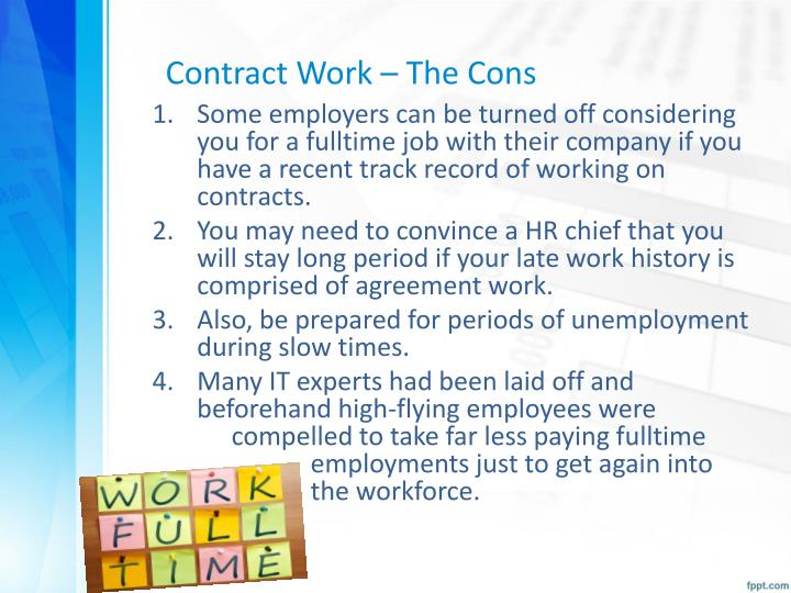 Contract Work – The Cons