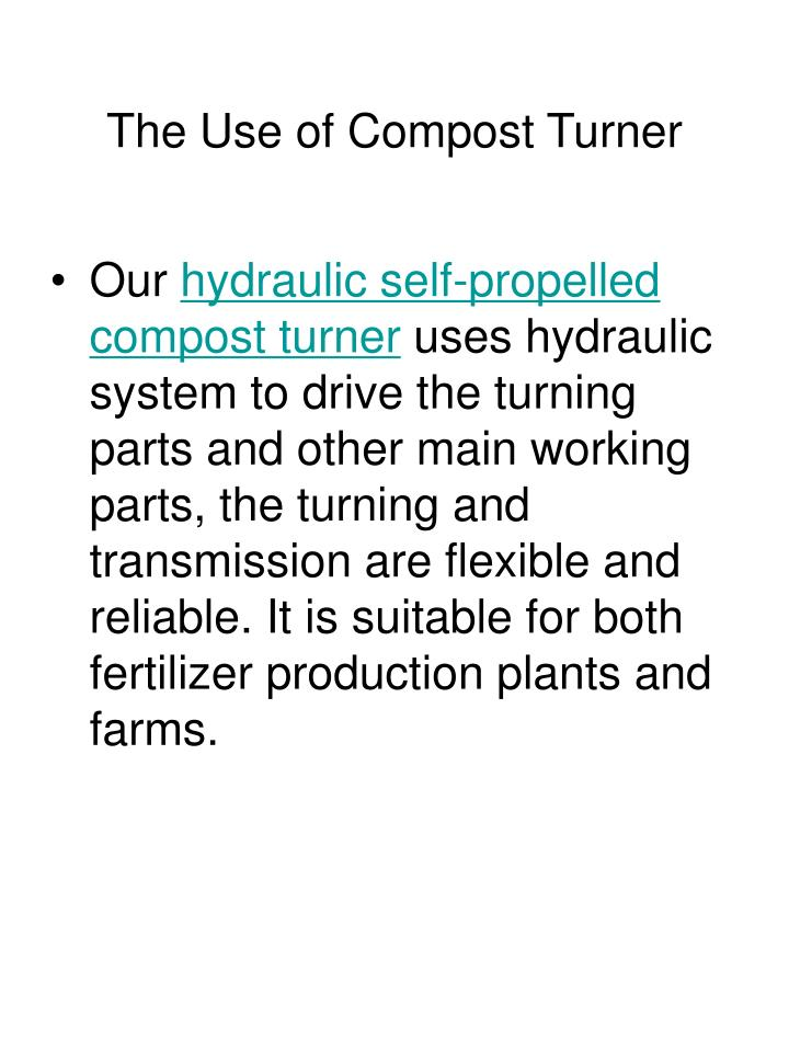 The Use of Compost Turner