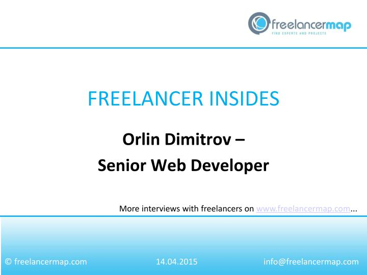 Orlin dimitrov senior web developer