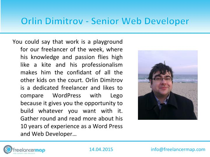Orlin dimitrov senior web developer1